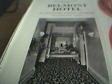 ephemera 1961 advert belmont hotel leicester de montfort street