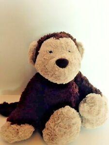"Plush animal Jellycat Rollo the Monkey dark brown 13"" long Hard to find stuffed"