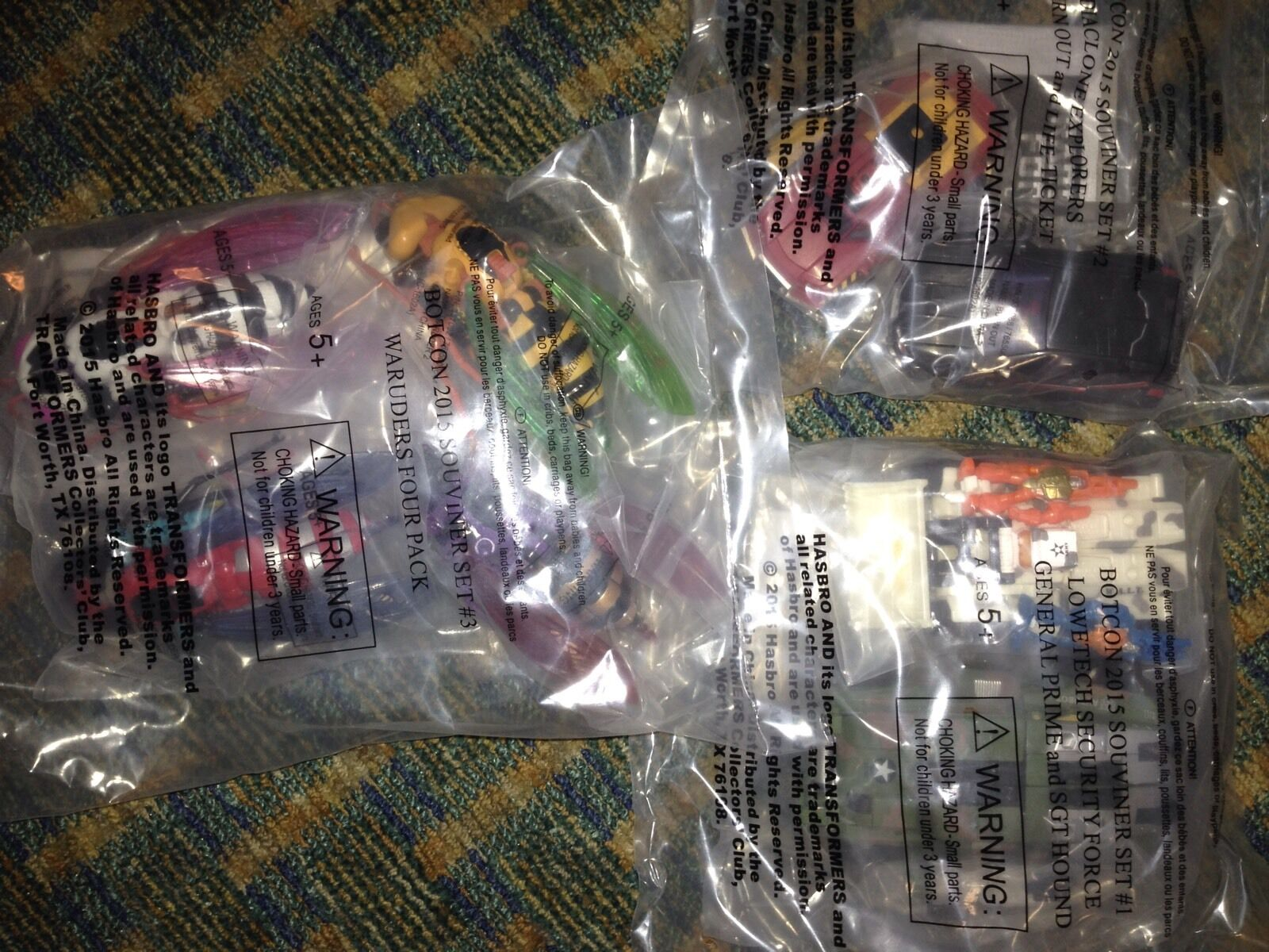 Botcon 2015 Transformers All 3 3 3 Attendee Sets 1 2 3 (8 Figs) G2 Diaclone Waruders f387e5