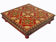 80x80 cm antik-look orient Holz Teetisch Tisch Relief malerei Coffee Table 16/A