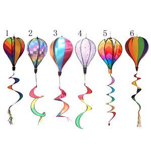Windsock Hot Air Balloon Wind Spinner Garden Outdoor Decor Festival Tent G5J7