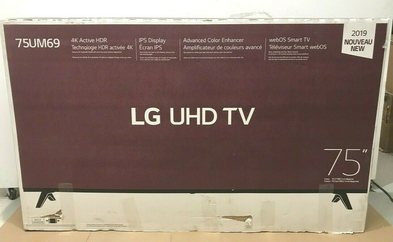 LG Electronics 75 LED LCD Smart TV (4K) 75UM6970PUB New Open Box ✅❤️️✅❤️️. Available Now for 759.99
