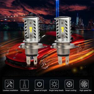 LED H4 9003 HB2 Hi//Low Dual Beam DRL Headlight Conversion Upgrade Bulbs Kit 580W