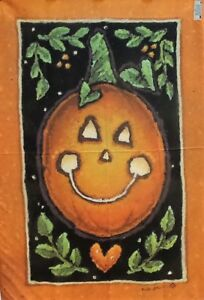 "Smilin' Jack Pumpkin Halloween Standard House Flag, by Toland 28"" x 40"", #2199"