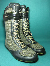 NIKE HYPNOTIZE Women's Brown Leather/Textile Boots UK Size 3.5/EU 36.5