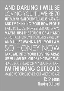 Thinking Out Loud Lyrics