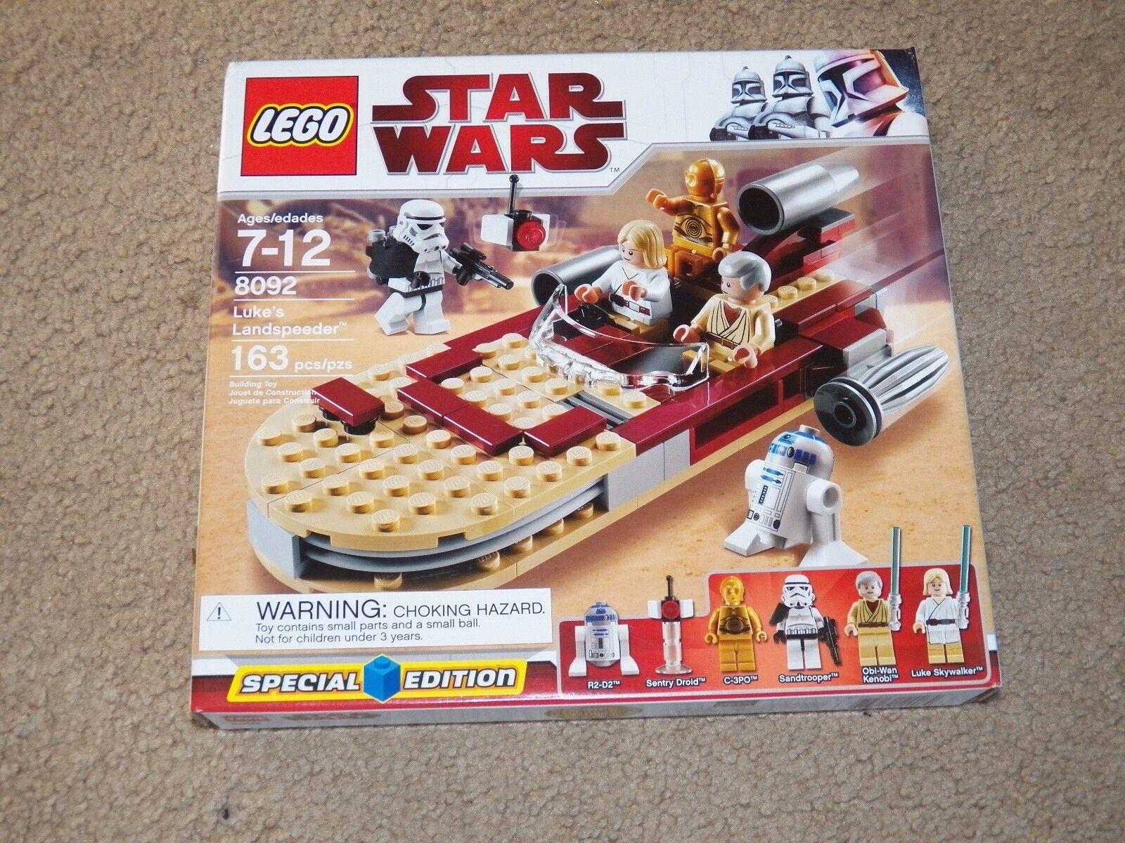 LEGO 8092 Star Wars Luke's Landspeeder 163 pieces Special Edition figurines NEW