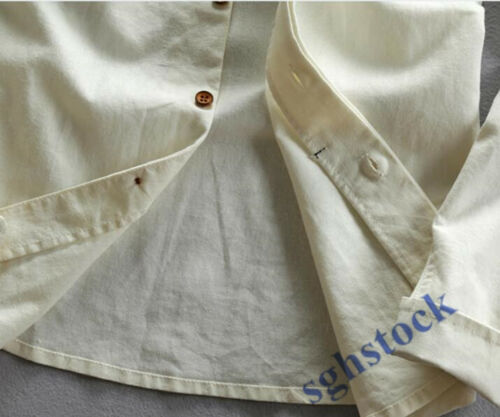Mens Slim Fit Linen Cotton Stand Collar Casual Shirt Tops Long Sleeve Casual sgh