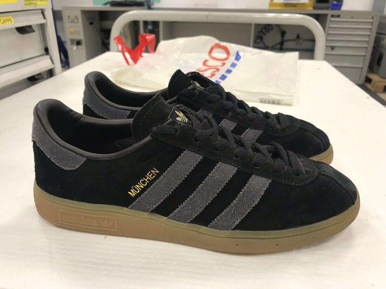 Adidas Adidas Adidas münchen formatori 8 nero con strisce grigio | Qualità Primacy  1317cc