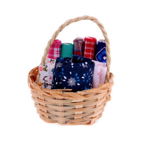 1-12-Dollhouse-furniture-miniatures-basket-fabrics-mini-model-decorat-wv