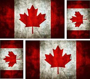 4x-sticker-Adesivo-Adesivi-vintage-Vinyl-auto-moto-bandiera-canada-canadese