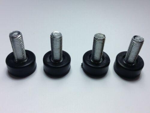 M01609 4 Threaded Insert Leveling Feet Casters Steel Wire Shelf Posts