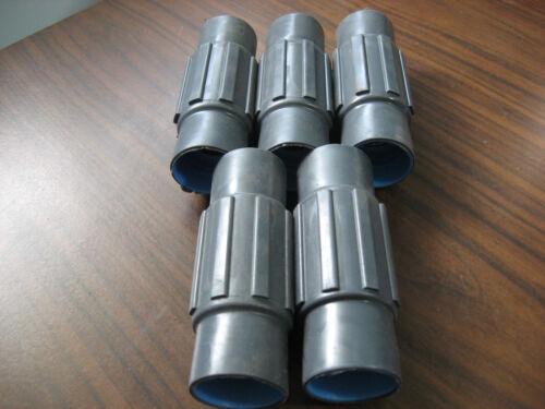"Lot of 5 New No Box Plasti-Bond Robroy PRCPLG-1 PVC Coated Couplings 1/"""