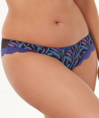 Curvy Kate Tropics Underwired Non Padded Bra or Brazilian Brief Iris Print