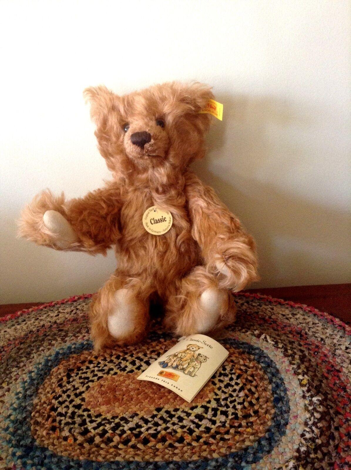 STEIFF  CLASSIC TEDDY BEAR EAN 005114-CINNAMON MOHAIR-11 -PRESS ME VOICE-
