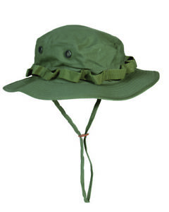 US Army Camo Gi Jungle Hat R/S Boonie Olive Size L Fishing Fisherman's