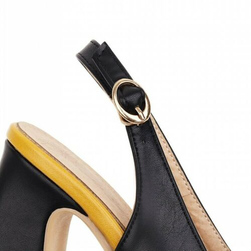 Details about  /Elegant Women/'s Casual Slingbacks Pointy Toe Summer Ankle Strap Court Sandals B