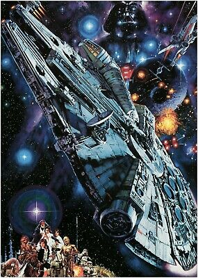 Star Wars Collage Classic Movie Large Poster Art Print Maxi A1 A2 A3 A4