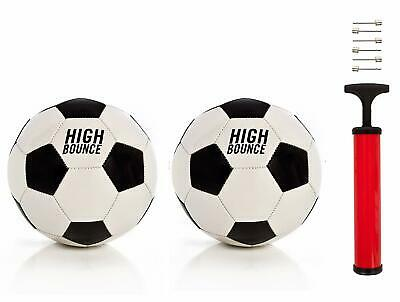 AMGROW High Bounce Traditional Soccer Ball Official Size Set of Including String Bag /& Needles