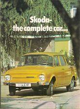 Skoda S100 Saloon 1973 UK Market Foldout Sales Brochure