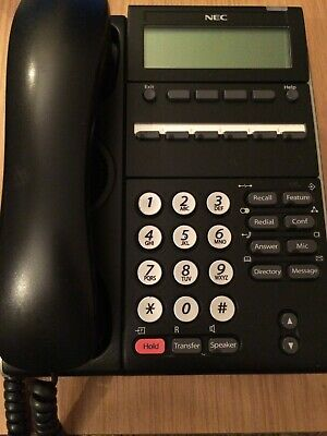 TEL 6 Programmable Keys DTL-6DE-1 NEC DT300 Series Digital Desk Phone BK