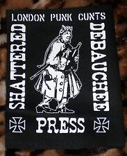 LONDON PUNK CUNTS PATCH-Art Punk! allin lewd urban assault badge SDP gg fang gbh