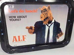 Vintage-ALF-TV-Show-metal-folding-TV-Snack-Tray-1987