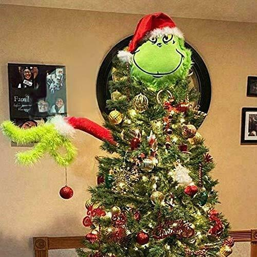 Furry Green Grinch Arm Ornament Holder for The Christmas Tree for Christmas Home
