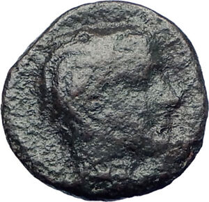 GELA-Sicily-420BC-Trias-River-God-Gelas-amp-Bull-Ancient-Greek-Coin-rare-i73430