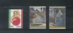 JAPAN-2001-ITALY-IN-JAPAN-THE-ANNUNICATION-COMP-SET-OF-3-STAMPS-IN-FINE-USED