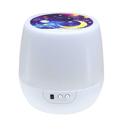 Starry Sky Projection Lamp Battery Operated Rotating Bedside Night Light #K