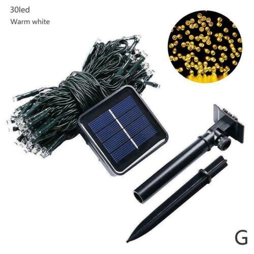 Solar Power Fairy Lights String Lamps Party Wedding Decor Outdoor Garden T4K9