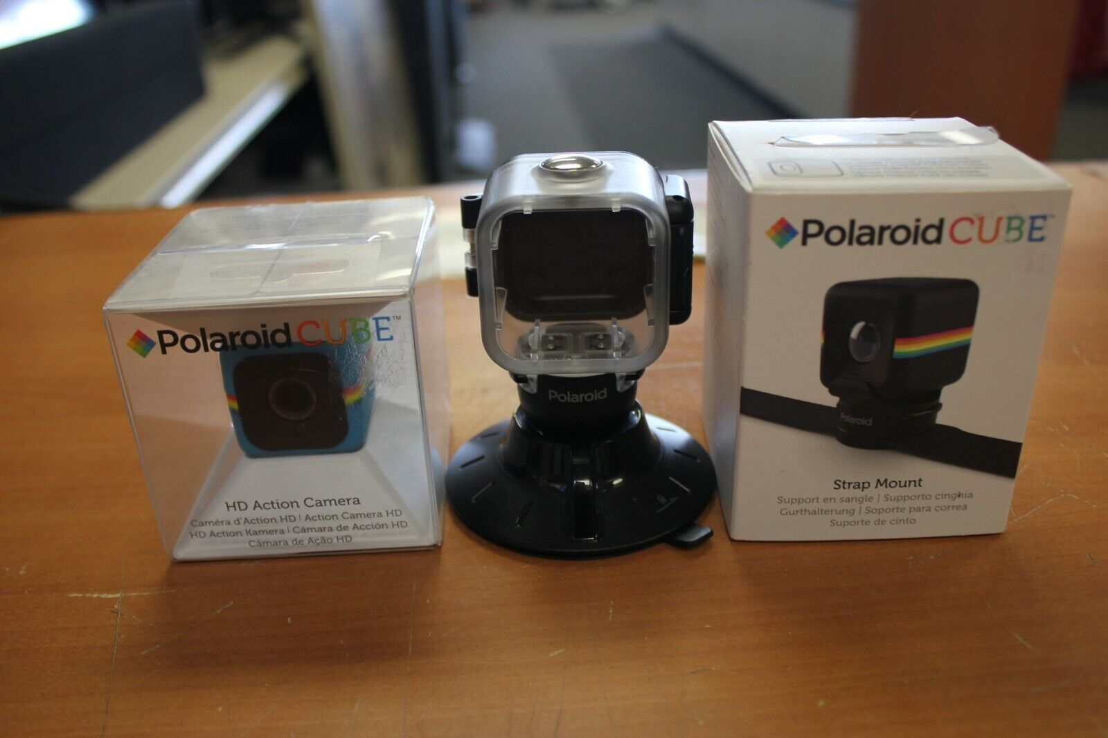 Polaroid Cube HD Action Camera POLC3BL w/ Extras action camera cube extras polaroid polc3bl