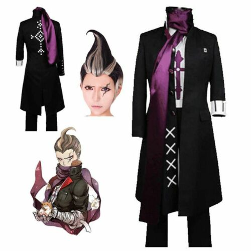 Details about  /5pcs Danganronpa Dangan Ronpa Outfit Gandamu Tanaka Cosplay Costume Coat Suit