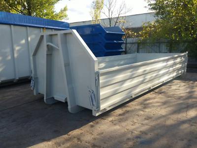 Warnen Abrollcontainer Abrollpritsche
