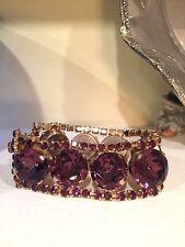 Vintage Amethyst Purple Rhinestone Bracelet