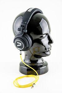 7even-Kopfhoerer-schwarz-gelb-The-Headphone-black-yellow-Dj-Sport-Hifi-Handy