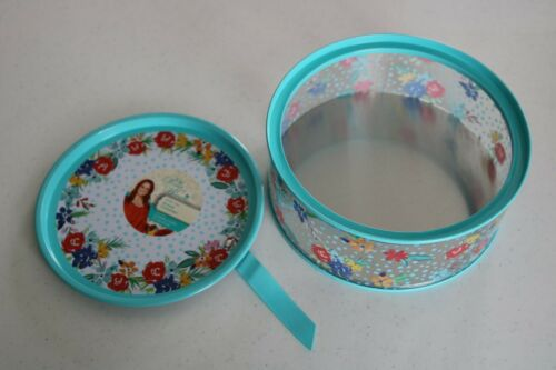 The Pioneer Woman Birthday Floral Round Container Treat//Favor Tin With Lid