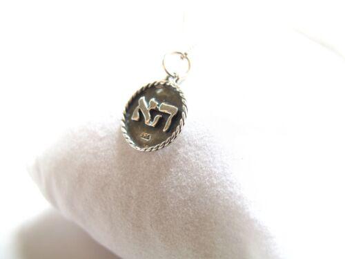 La Kabbale Amulette Talisman Round hébreu Charme Collier Pendentif de chance en amour