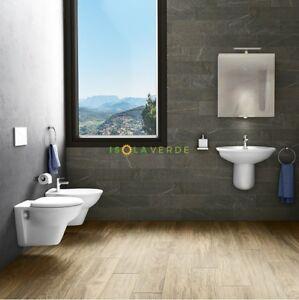 Italia Ceramiche Arzano Na.Wc Water Bidet Sedile E Staffe Sanitari Sospesi Serie Karla Rak