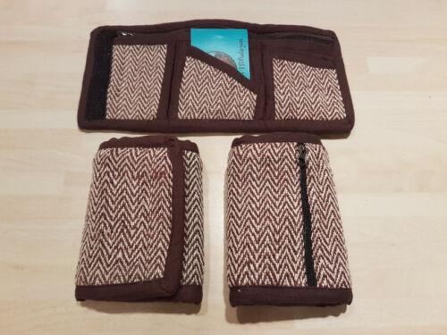 Brown 100/% Hemp Eco-Friendly Card Wallet Purse Handmade Fair Trade in Nepal