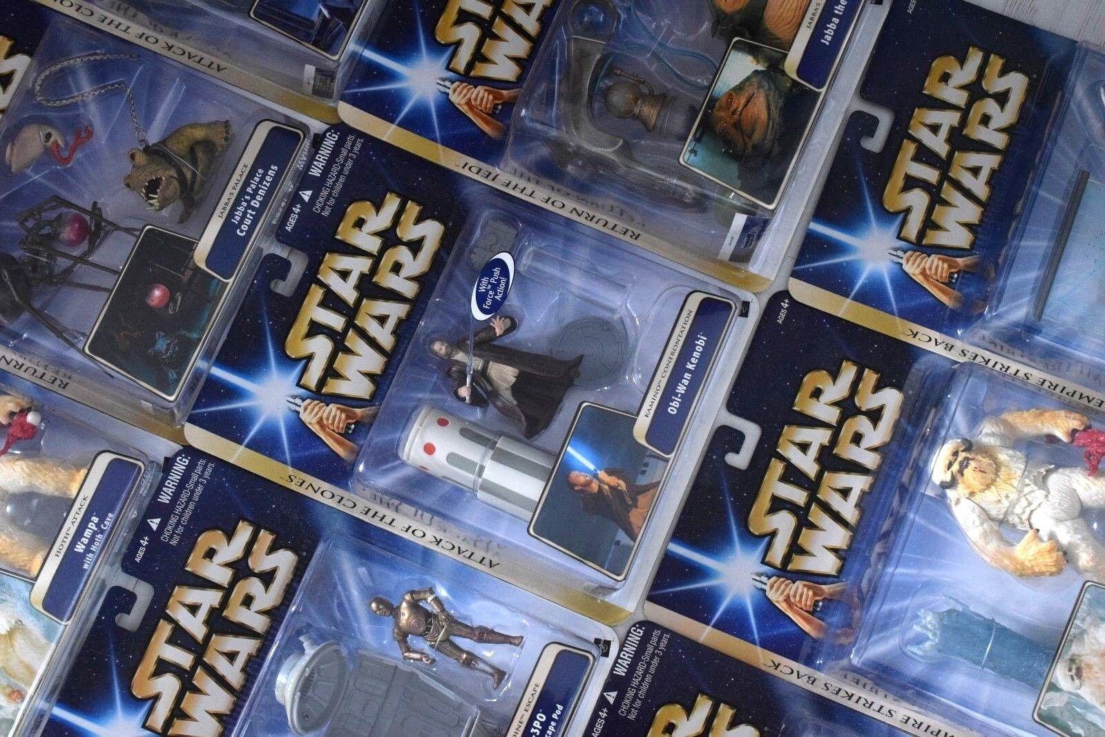 star wars  - saga 2004 (Gold striscia) deluxe statuetta confezioni - tutti moc sehen