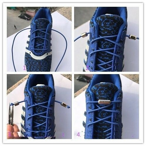 Lazy No Tie Elastic lock Shoe laces for kids adults sneakers running jogging