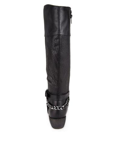 elasticizzati con con Uk Harness Stivali Black M in Sz Insolia zip 3 Chain s ginocchio Flex® wEE6Iqcv