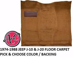 for 1974-88 Jeep J Series J10 Pickup Cutpile 850-Chamoise Complete Carpet Molded