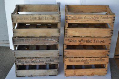 6 Deutsche Weinkisten Weinstiege Holzkiste Basteln Shabby Chic 1b Zustand