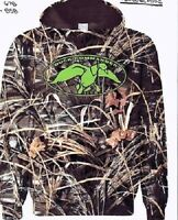 Youth Duck Commander Logo Max-4 Camo Hoodie Hooded Sweatshirt