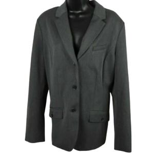 NWT-Eddie-Bauer-Gray-Button-Front-Coat-Jacket-Women-039-s-Size-16