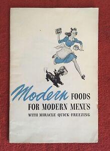 Vtg-1942-General-Foods-MODERN-FOODS-FOR-MODERN-MENUS-Birds-Eye-COOKBOOK-RECIPE