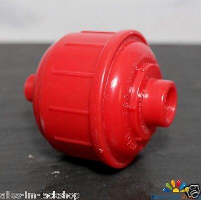 """1/4"""" Zoll Druckluft Wasserabscheider Luftfilter Ölabscheider Filter rot"""